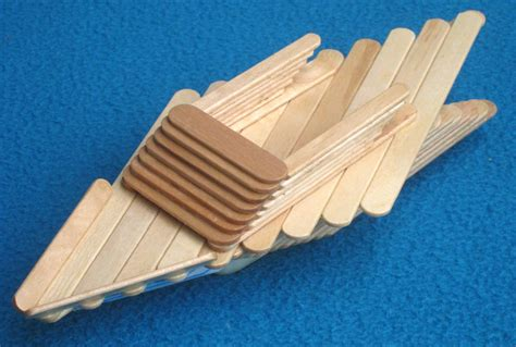 popsicle sticks popsicle stick boat with submarine motor diy family