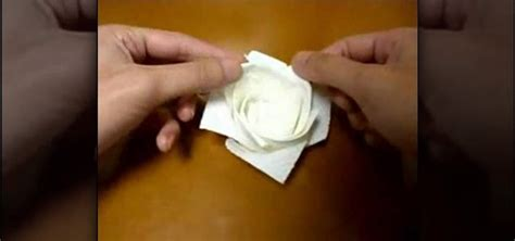 towel origami flower how to origami a with a paper towel 171 origami