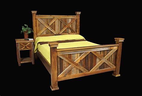 log wood bed frame bed frame nightstand country rustic cabin log wood