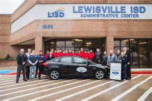 Lewisville Ford lewisville ford dealership donates vehicle to lisd