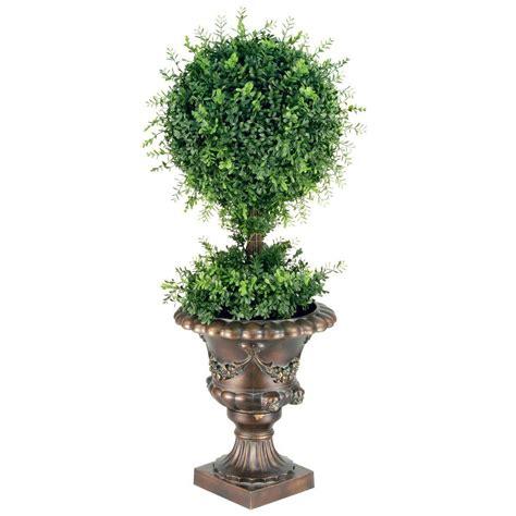black mini tree national tree company 36 in mini tea leaf 1 topiary
