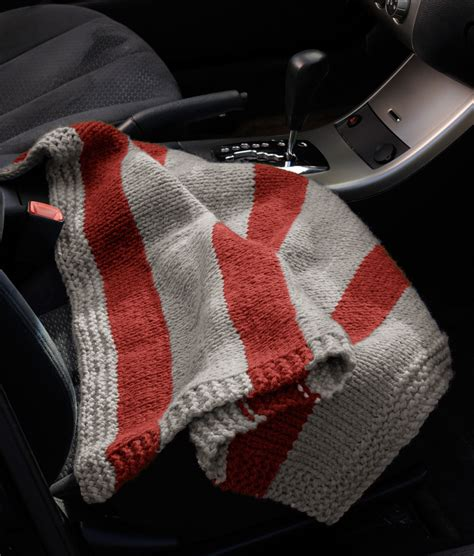 knitted car pattern compact car blanket in brand hometown usa l10446b