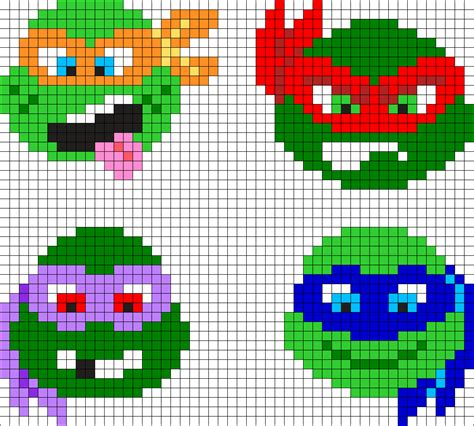 perler bead turtle pattern mutant turtles perler bead pattern bead