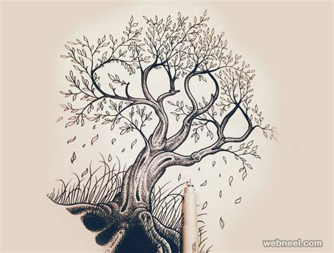 drawing ideas 30 beautiful tree drawings and creative ideas from top