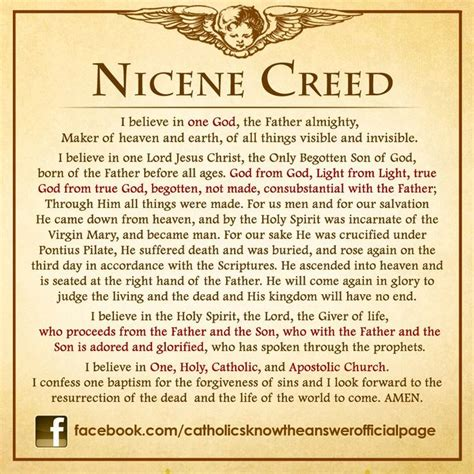 catholic prayer 25 best ideas about nicene creed on nicene