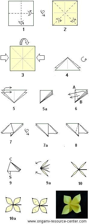 how to make an origami flower easy step by step origami buttonhole flower insturctions