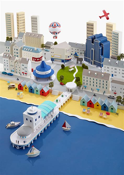 paper craft city paper cities on behance