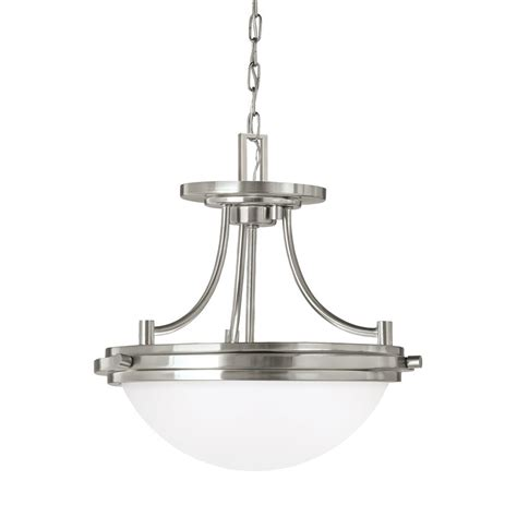 winnetka lights sea gull lighting winnetka 2 light brushed nickel pendant