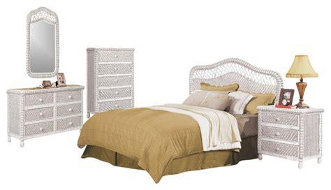 wicker bedroom furniture sets santa wicker and rattan 5 tropical bedroom set