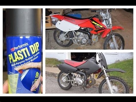 spray painting dirt bike plastics plasti dipped honda xr70 dirtbike