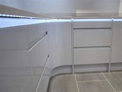 kitchen worktop lights remo gloss white cabinets with worktop lighting