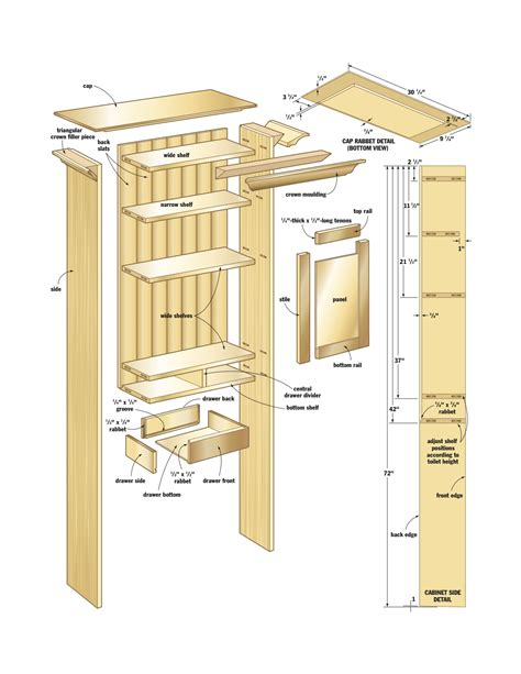 woodworking cabinet plans woodwork bathroom cabinet woodworking plans pdf plans