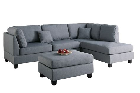 sectional sofa and ottoman set modern contemporary polyfiber fabric sectional sofa and