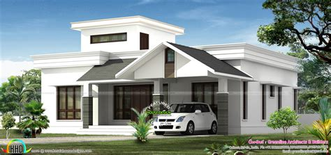 home design low budget low budjet single floor house design two side views