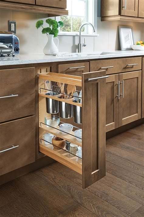 pull out cabinets kitchen pantry base utensil pantry pullout cabinet homecrest cabinetry