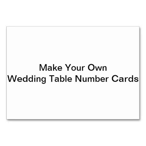 make ur own cards make your own wedding table number cards table cards zazzle
