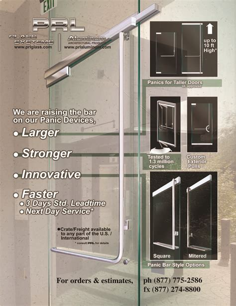 panic hardware for glass doors glass door exit device hardware prl architectural glass