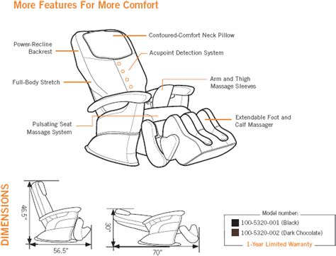 Ht 5320 Chair by 1299 Ht 5320 Human Touch Robotic Home Chair Sale