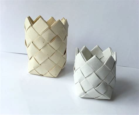 paper crafts recycled newspaper diy paper basket 183 how to make a paper bowl 183 papercraft