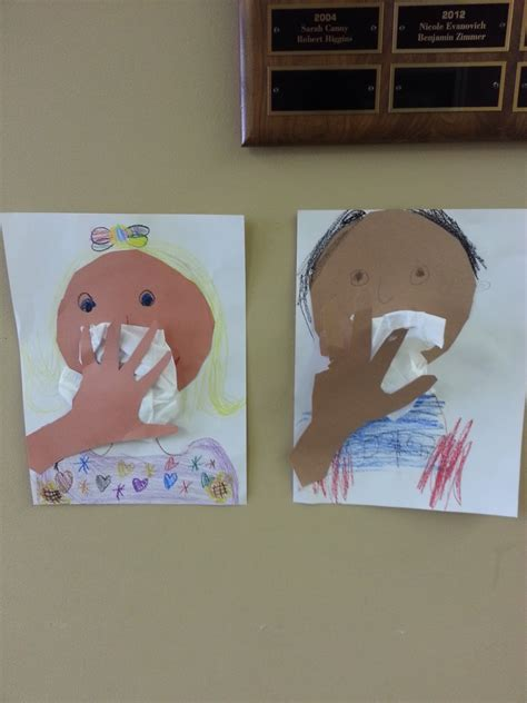 health crafts for pre k with mrs winter health and hygine