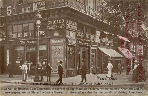 office of the chicago daily news no 10 boulevard des capucines corner of the place de l
