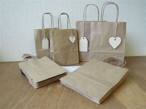 craft paper gift bags gift bag pack craft paper with tags and tissue for
