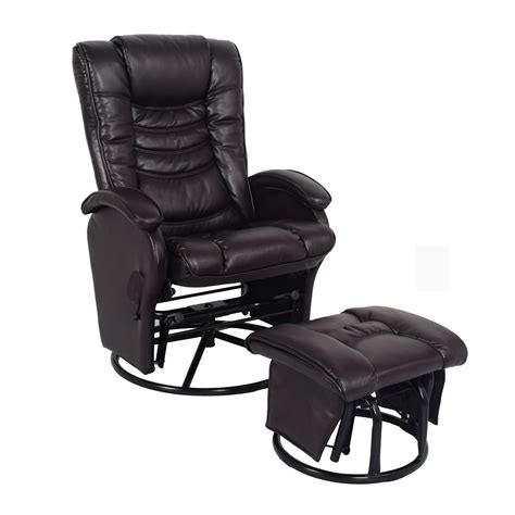 recliner with ottoman leather leather recliner with ottoman sears