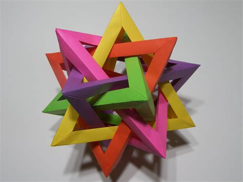 tetrahedra origami five intersecting tetrahedra 2 by rokte on deviantart