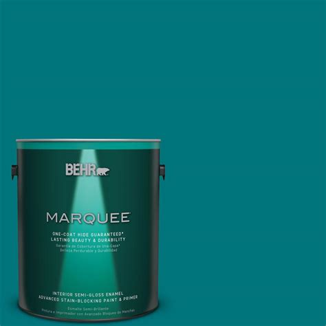 home depot behr marquee paint colors behr marquee 1 gal t15 3 essential teal semi gloss