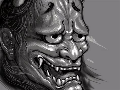 hannya mask speed painting by chris garver on vimeo
