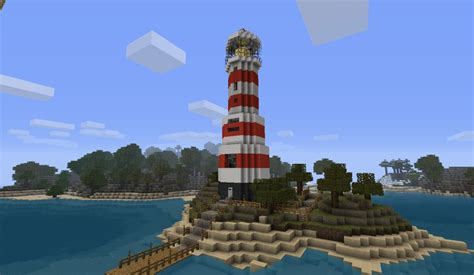 Front Foyer leuchtturm lighthouse with a small appartement minecraft