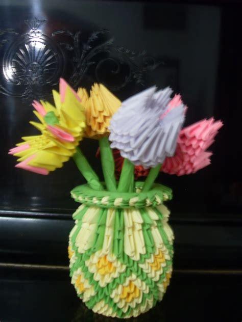 origami 3d flower vase flower vase album madushi hettige 3d origami