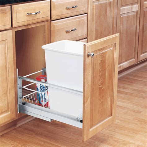 kitchen cabinet garbage can diy pull out garbage can