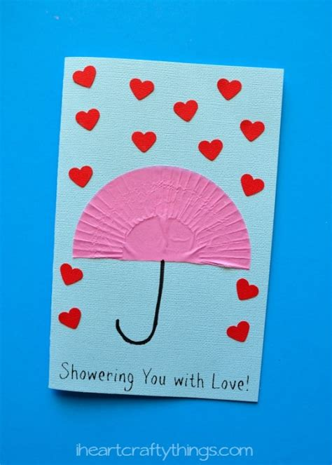 things to make with cards quot showering you with quot s day card i