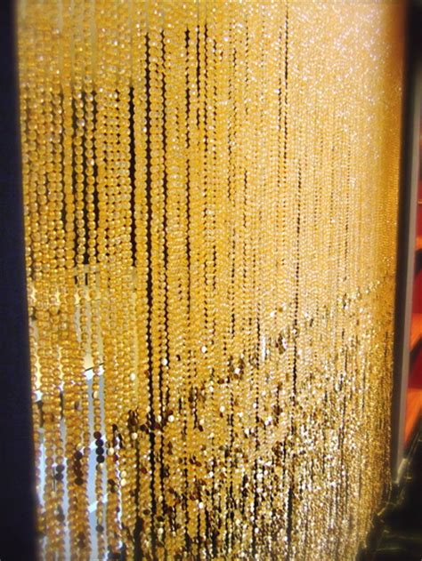 gold beaded curtains chagne gold acrylic bead curtain memories of