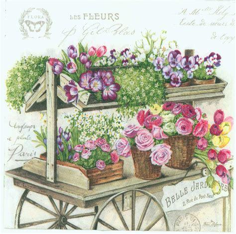 decoupage shop decoupage paper napkins of flower wagon chiarotino