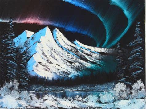 bob ross painting northern lights landscape paintings landscape painting classes