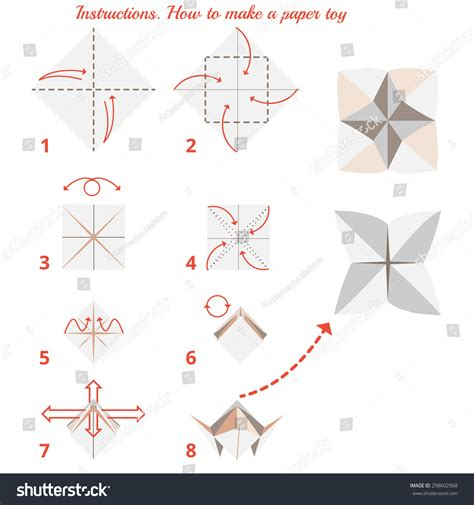 how to make paper toys origami how make paper origami stock vector