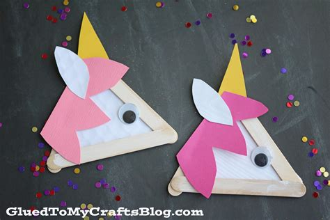 and craft for popsicle stick unicorns kid craft glued to my crafts