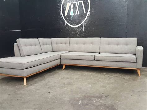 mid century sectional sofa mid century modern sectional chaise sofa
