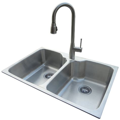 steel kitchen sinks shop american standard 20 basin drop in or