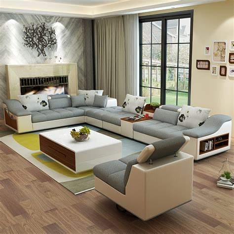 leather sectional living room furniture living room furniture modern u shaped leather fabric