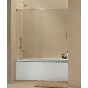 bathtub shower doors home depot dreamline mirage 56 in to 60 in w x 58 in h semi framed