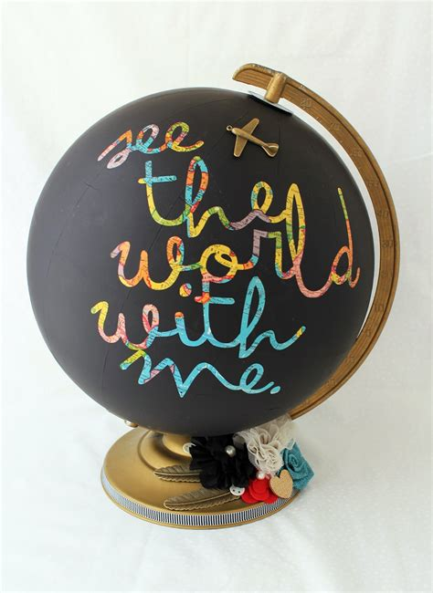 chalkboard globe diy 25 diy map and globe projects