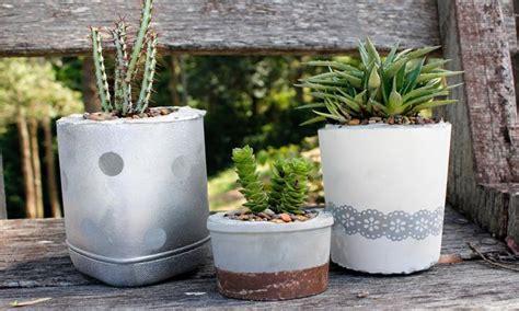 diy cement planters diy concrete planter pots kidspot