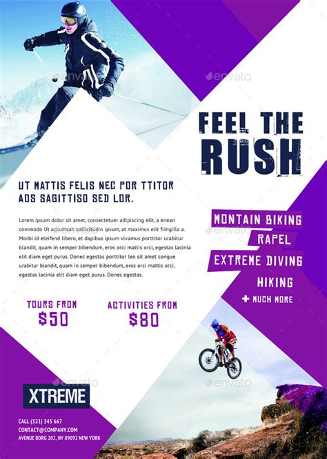 extreme sports flyers magazine ad by ingridk graphicriver