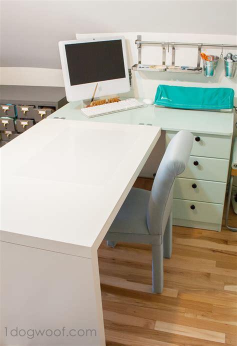 craft desk for an ikea hack craft desk makeover one woof