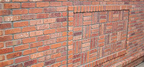 unique wall patterns create a unique feature wall with brick slip bonding