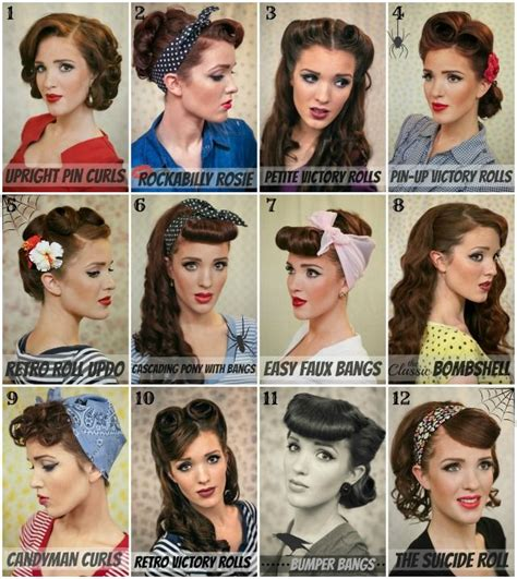 step by step vintage hairstyles retro hair tutorial round up with lots of different styles