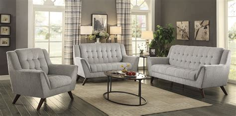 grey living room set baby dove gray living room set 511031 coaster